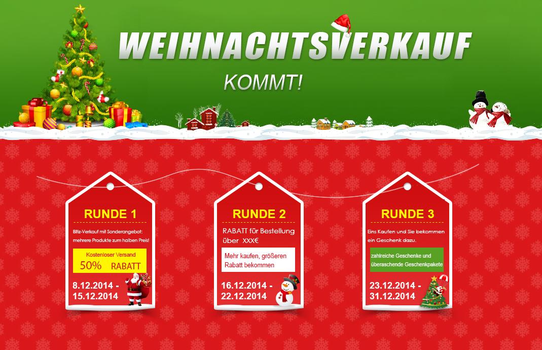 Weihnachtsverkauf Efox - Reinschauen und Glücklich sein oder ...